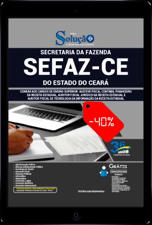 Apostila SEFAZ CE 2021 PDF Grátis Cargos de Ensino Superior