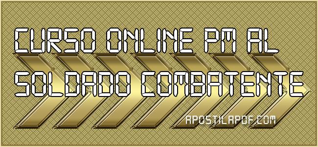 Curso Online PM AL 2021 Soldado Combatente