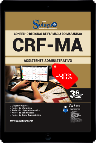Apostila CRF MA 2021 PDF Download Grátis Assistente Administrativo