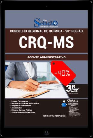 Apostila CRQ MS 2021 PDF Grátis Agente Administrativo