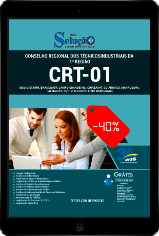 Apostila CRT 1 Região 2021 PDF Grátis Conteúdo Online
