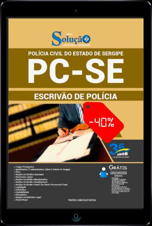 Apostila PC SE 2021 PDF Grátis Escrivão de Polícia