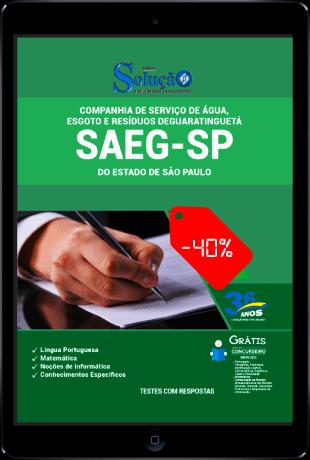 Apostila SAEG SP 2021 PDF Grátis Conteúdo Online
