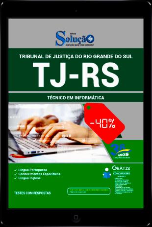 Apostila TJ RS 2021 PDF Download Grátis Técnico em Informática