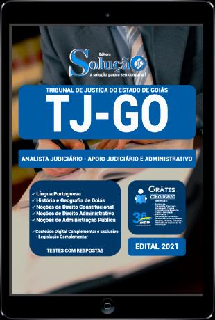 Apostila TJ GO 2021 PDF Grátis Analista Judiciário Apoio Judiciário e Administrativo